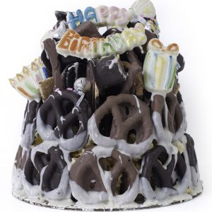 chocolate pretzel tower
